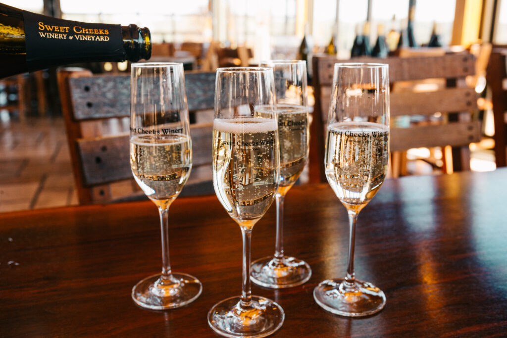 Our 2018 Trio Sparkling Wine's lively minerality and zippy acidity enliven the palate